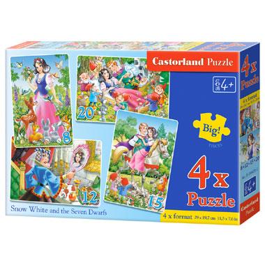 Castorland puzzel Sneeuwwitje en de zeven dwergen - 55 stukjes