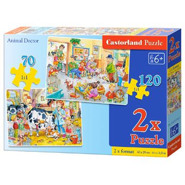 Castorland puzzel dierenarts - 190 stukjes