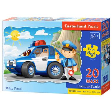 Castorland puzzel politie patrouille maxi - 20 stukjes