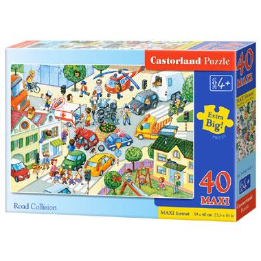 Castorland puzzel Road Collision - 40 stukjes