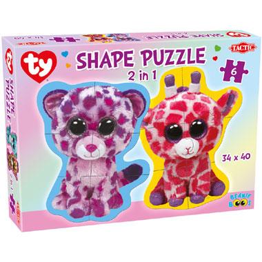 Tactic Ty Beanie Boo's puzzel 2-in-1 - 6 stukjes