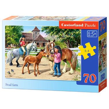 Castorland puzzel Stud boerderij - 70 stukjes