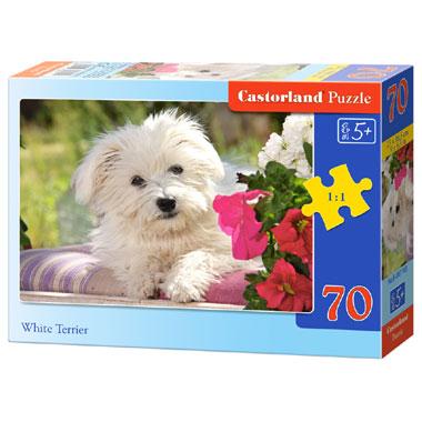 Castorland puzzel White Terrier - 70 stukjes