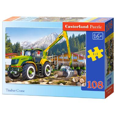 Castorland puzzel Timber kraanwagen - 108 stukjes