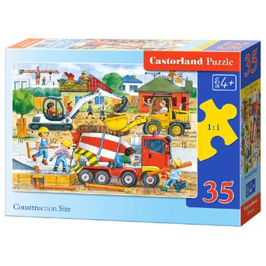 Castorland puzzel bouwplaats - 35 stukjes