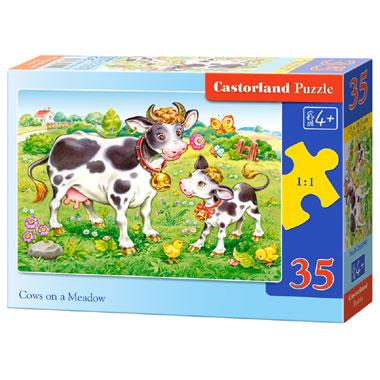 Castorland puzzel koeien op een weiland - 35 stukjes