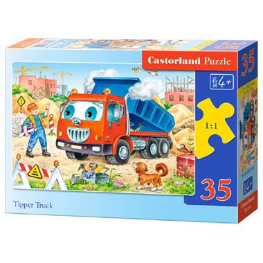Castorland puzzel tippertruck - 35 stukjes