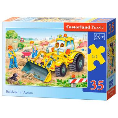 Castorland puzzel bulldozer in actie - 35 stukjes