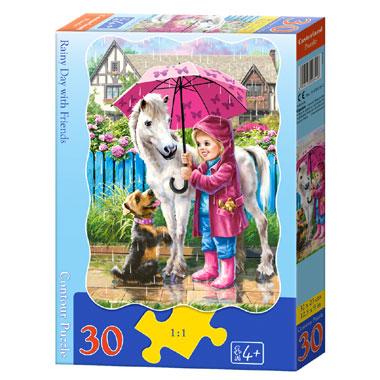 Castorland puzzel regenachtige dag met vrienden - 30 stukjes