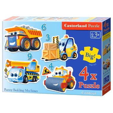Castorland puzzel bouwvoertuigen - 22 stukjes