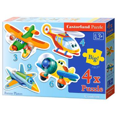 Castorland Funny Planes puzzel - 22 stukjes