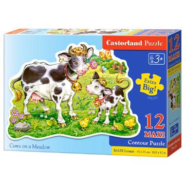 Castorland puzzel koeien op een weide maxi - 12 stukjes