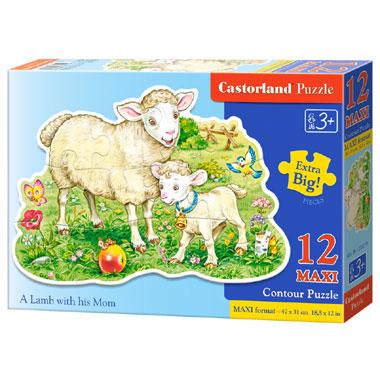 Castorland puzzel een lam met zijn moeder maxi - 12 stukjes