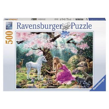 Ravensburger puzzel Sprookjesachtige ontmoeting - 500 stukjes