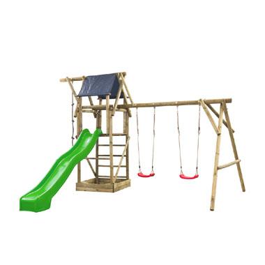 SwingKing speeltoestel met groene glijbaan - Niels