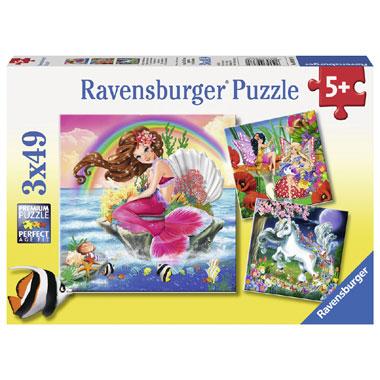Ravensburger puzzelset wereld van de fabelwezens - 49 stukjes