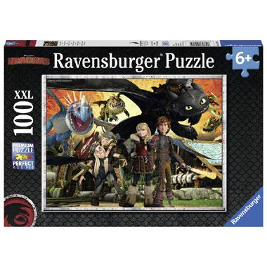 Ravensburger dragons drakenvrienden XXL-puzzel - 100 stukjes