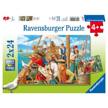 Ravensburger puzzelset bij de piraten - 2 x 24 stukjes