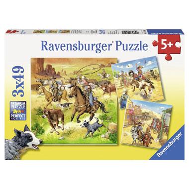 Ravensburger puzzelset in het wilde westen - 3 x 49 stukjes