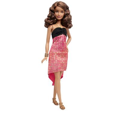 Barbie Fashionistas pop met ombre jurk - klein