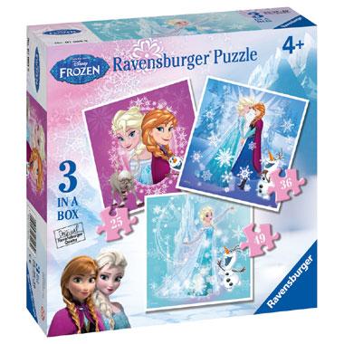 Ravensburger Disney Frozen Fever puzzelset - 25 tot 49 stukjes