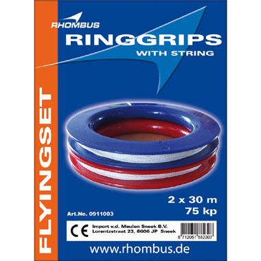 Rhombus 2-rings 75kp Dacron 30m vliegertouw