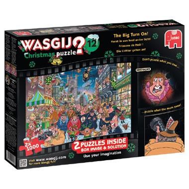 Jumbo Wasgij 12 kerst puzzel The Big Turn On - 2 x 1000 stukjes