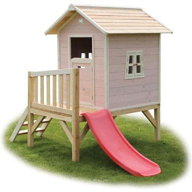 EXIT speelhuis Beach 300 met glijbaan - roze