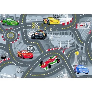 Vloerkleed World of Cars II - grijs