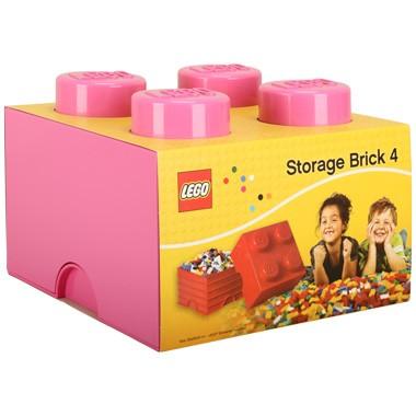 LEGO opbergbox brick 4 - roze