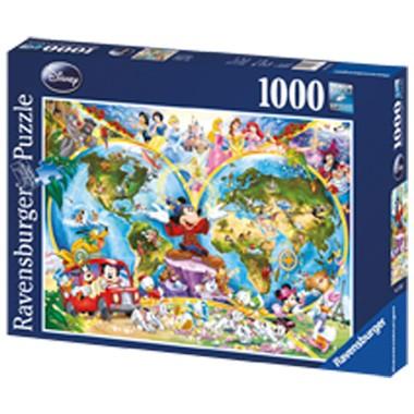 Ravensburger Disney wereldkaart puzzel 1000 stukjes