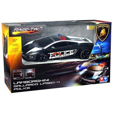 Op afstand bestuurbare auto Racetin Lamborghini politie 1:16