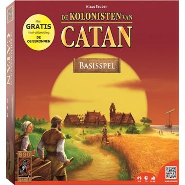 De Kolonisten van Catan: Incl Oliebronnen - Gezelschapsspel bordspel