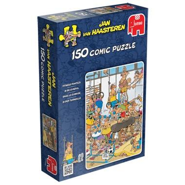 Jumbo puzzel Jan van Haasteren in de gymzaal 150 stukjes