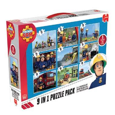 Jumbo Brandweerman Sam 9-in-1 puzzeldoos