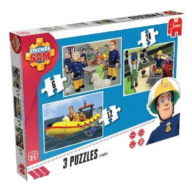 Jumbo Brandweerman Sam 3-in-1 puzzeldoos