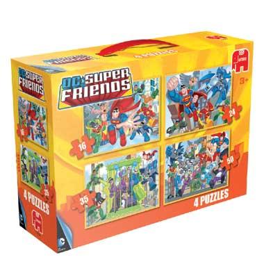 Jumbo 4-in-1 puzzel Superfriends