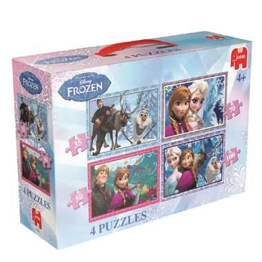 Jumbo 4-in-1 puzzel Disney Frozen