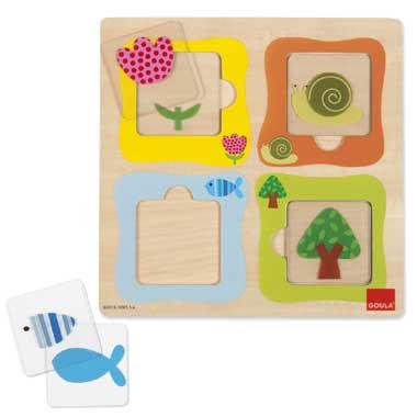 Jumbo transparante puzzel 8 stukjes