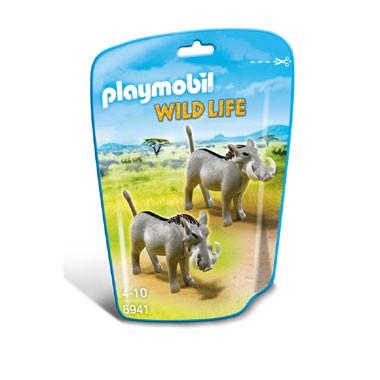 PLAYMOBIL Wildlife wrattenzwijnen 6941
