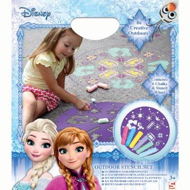 Disney Frozen Outdoor stencil kleurset