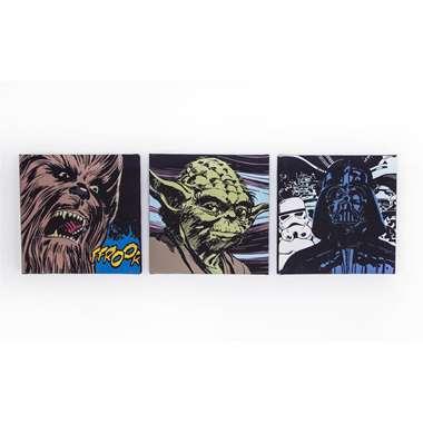 Star Wars canvasset 3-delig - 30 x 30 cm
