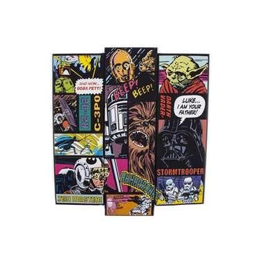 Star Wars canvas set Comic Collage - 100 x 90 cm