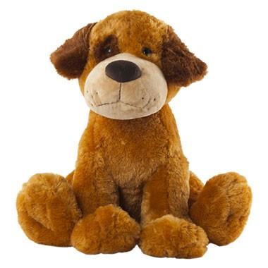 Zittende pluchen hond - 58 cm