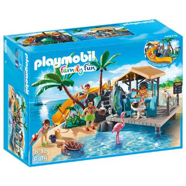 PLAYMOBIL Family Fun vakantie-eiland met strandbar 6979