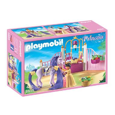 PLAYMOBIL Princess koninklijke stal met paard 6855