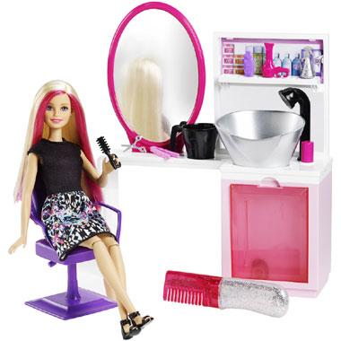 Barbie schoonheidssalon met pop
