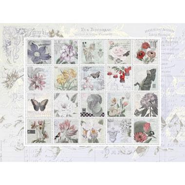 Nostalgic stamps puzzel - 1000 stukjes