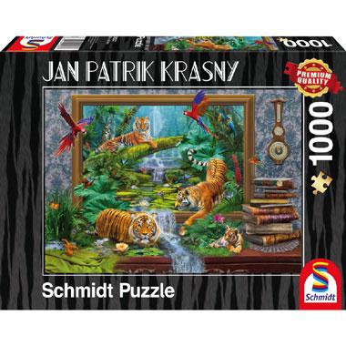 Tigers Coming to live puzzel - 1000 stukjes