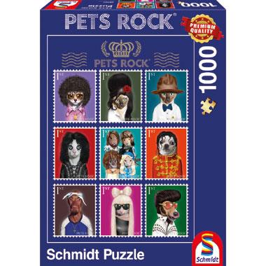 Pets Rock Music puzzel - 1000 stukjes